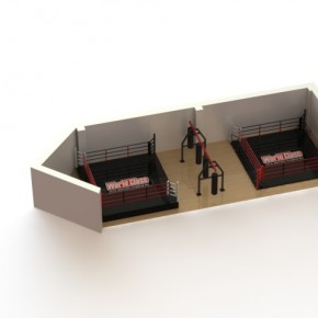ЗD планировка спортивного зала