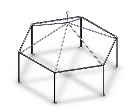 3D модель шатра.
