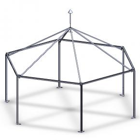 Схема сборки шатра - шестигранника