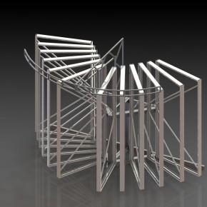 Проектирование конструкций экспозиторов, выстовочных стендов, торговых и рекламных стоек.
